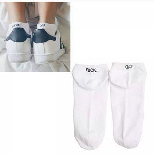 Fuck Off Ankle Socks